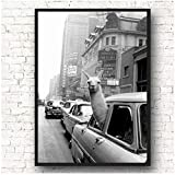 A&D Lama Poster in einem Taxi auf dem Times Square