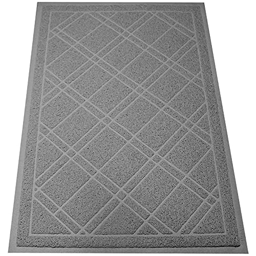 SlipToGrip Universal Gray Door Mat with DuraLoop