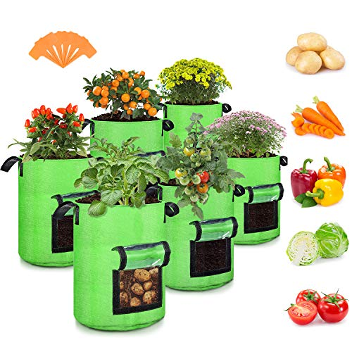 10 Gallon Potato Grow Bags, 6 Pack,...