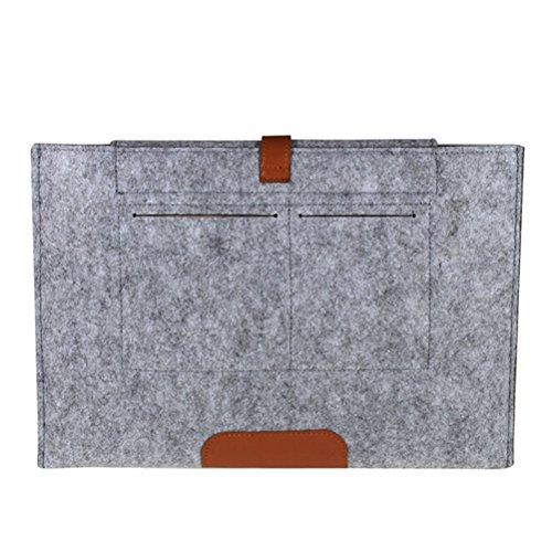 LEDMOMO 13 Zoll fühlte Laptop Sleeve Case Decken Schutztasche für 13 Zoll MacBook(Pale Grey)