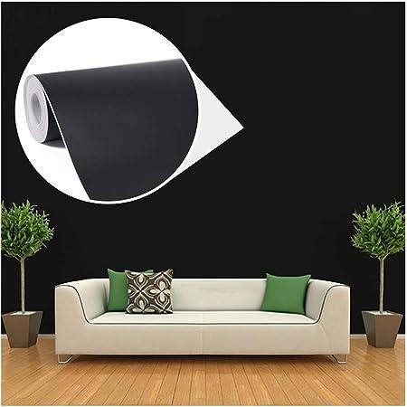 45cmx10M Imperméable Papier Peint Auto-Adhésif Trompe l'oeil Stickers Autocollant Muraux Décoration Murale pour Chambre Salon Meuble, Noir