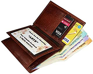 ABYS Genuine Leather Men Credit Card Holder||Money Purse||Pocket Wallet with 6 Card Slots (Bombay Brown)