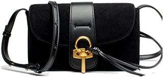 LVfenghe New Shoulder Bag Trend Casual Fashion Envelope Bag Messenger Bag Small Leather Handbag Size: 24 * 10 * 15cm (Color : Black)