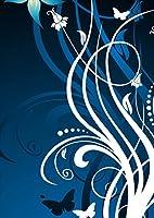 igsticker ポスター ウォールステッカー シール式ステッカー 飾り 1030×1456㎜ B0 写真 フォト 壁 インテリア おしゃれ 剥がせる wall sticker poster 008950 クール 花 フラワー ブルー 青