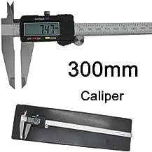 Electronic Digital Caliper, 0-12 Inch/300 mm Stainless Steel Body LCD Gauge Vernier Measuring Tool
