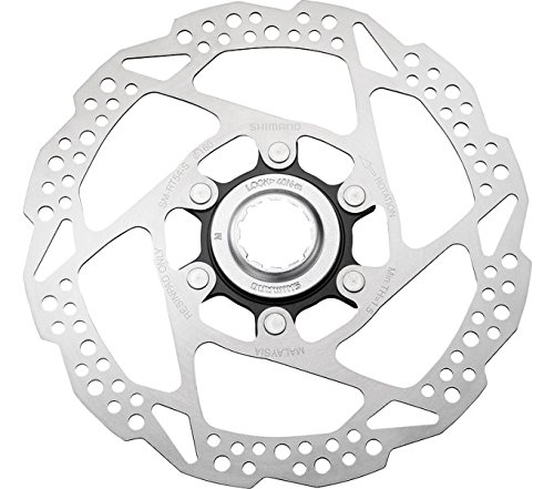 Shimano SH525 Deore, Disco Freno Center Lock Unisex-Adulto, Argento, 180mm