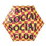 AntiSocialSocialClub (アンチソーシャルソーシャルクラブ) 折り畳み傘 カサ 傘 Photo Booth Umbrella Yellow×Pink (チェック柄)