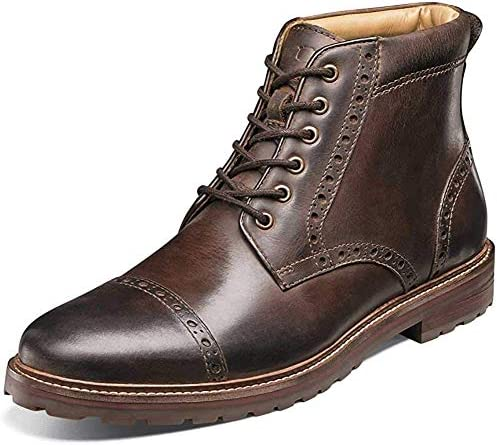 Florsheim mens Estabrook Cap Toe Ankle Boot Brown Crazy Horse 13 US product image