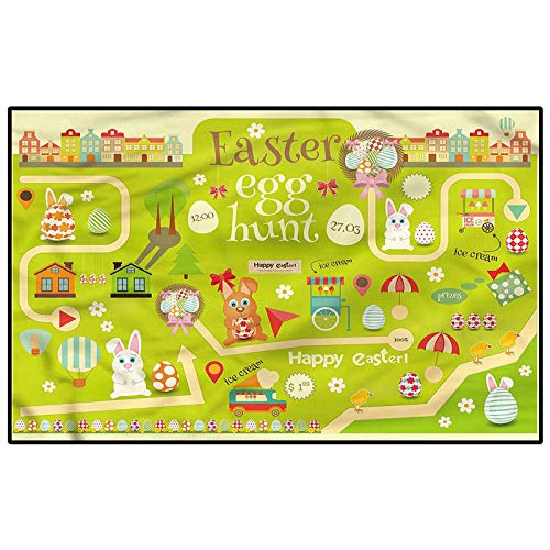 Easter Home Décor Rugs Egg Hunt with Bunny
