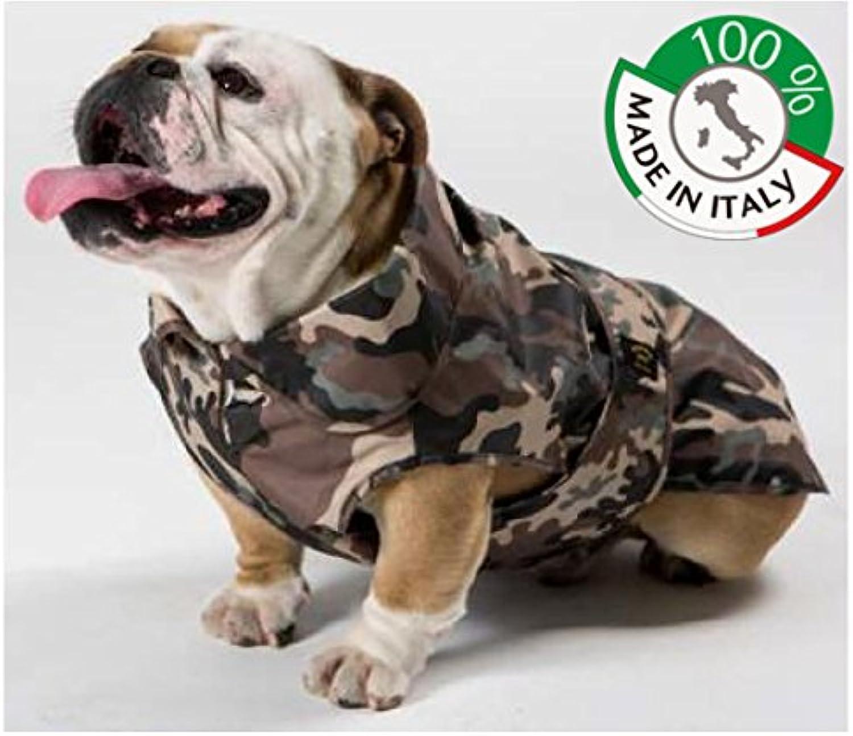 Raincoat Waterproof Mimetic for Dogs BULDOG 100% Made in  (51)