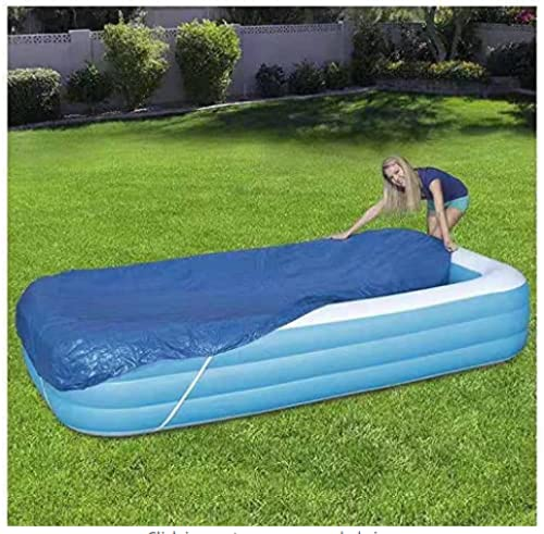YANRU Best Pool Cover, 10 Ft×6.6 Ft(300×200 cm) Swimming Pool Solar Cover - for Swimming Pool Keeps Out Leaves Round Pool Cover Quick Set - Pool Warmers