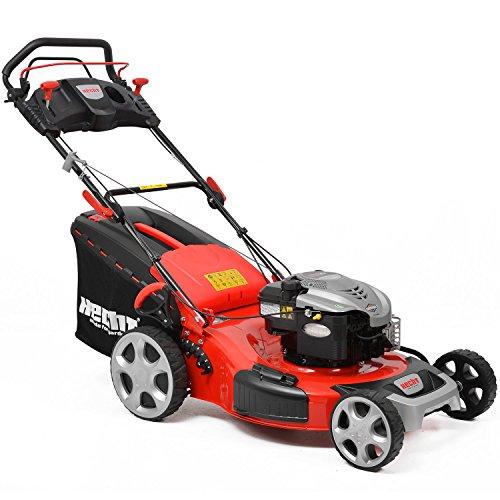 HECHT Benzin-Rasenmäher 5564 SB Briggs & Stratton Rasenmäher (4,2 kW (6,0 PS), Schnittbreite 56 cm, 70 Liter Fangkorbvolumen, 7-fache Schnitthöhenverstellung 25-75 mm, Radantrieb)