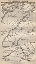 The Highland Railway. Inverness Perth Elgin. Scotland - 1886 - old map - antique map - vintage map - Scotland maps
