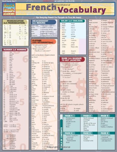 French Vocabulary (Quickstudy: Academic) (French Edition)