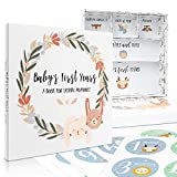 Beautiful Baby Memory Book with Keepsake Box and Stickers - First 5 Years Gender Neutral Journal Records All Your Baby Girl/Boy's Milestones - Scrapbook Album To Collect Photos and Precious Memories