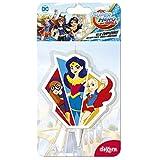 SUPER HERO GIRLS 346198 Bougie Figurine 2D, Cire, Multicolore, 5 x 2 x 8 cm