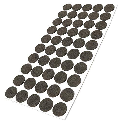 Adsamm / 50 x Feltrini/Ø 22 mm/marrone/tondi/Piedini mobili in feltro autoadesivo di 3.5 mm di spessore di alta qualità