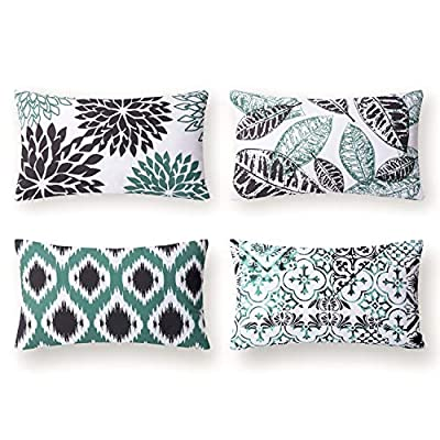 Phantoscope Set of 4 New Living Series Decorative Throw Pillow Case Cushion Cover 18 x 18 inches 45 x 45 cm
