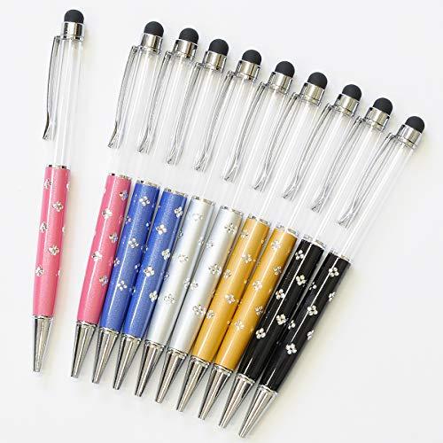 タッチペン付き 手作り ボールペン キット ハーバリウム 本体 キラキラ オリジナル ペン セット (10本, ミックス)