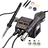 Portable SMD Rework Soldering Station 2 in 1 Hot Air Soldering Iron Digital Display Welding Tool BGA PCB IC Repair