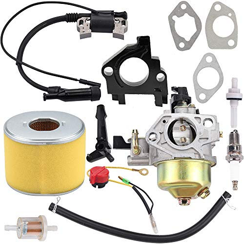 Kizut GX390 Carburetor for Honda GX390 13HP Engine Toro 22308 22330 Dingo TX413 16100-ZF6-V01 16100-ZF6-V00 Lawn Mower Parts Ignition Coil Air Filter Switch Tune Up kit