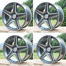 NEW 17 Inch x 8 Wheels Rims 5 lug Gunmetal Machined Face compatible with Mercedes Benz CLK CLASS CLK350 CLK500 C63 Set of 4
