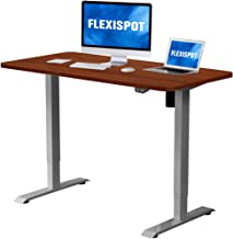 Flexispot Adjustable Desk, Electric Standing Desk Sit Stand Desk, 48 x 30 Inches Whole-Piece Desk Board Home Office Table Stand up Desk(Gray Frame + 48 in Mahogany Top)