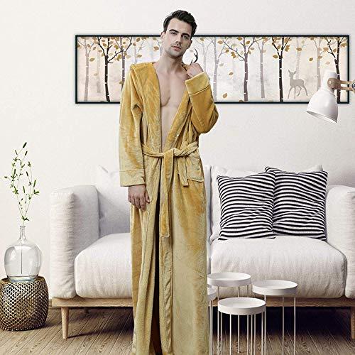 Flanell Bademantel Herren europäischen und amerikanischen Herbst und Wintermode Kapuzenjacke Verdickung Langen Hausdienst Paar Pyjamas