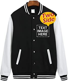 Personalized Varsity Jacket Custom Unisex Baseball Jacket for Adult & Youth