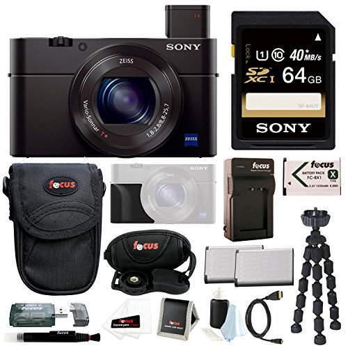 Sony DSC-RX100M III Cyber-Shot Digital Camera with Sony Attachment...