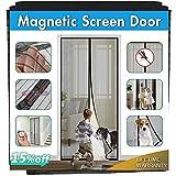 Magnetic Screen Door, IKSTAR Upgrade Mesh Door Instant Closure with Full Frame Hook&Loop, Keep Fly/Bugs Out, Pet/Kids Walk Through Freely Fit Door Up to 36'x82' Max …