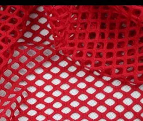 Gratis verzending grote mesh kleding kant stoffen/transparante diamant mesh/helderziende outfit Hoed voering 1Yard RS684, rood