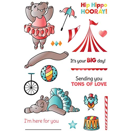 LDRS Creative Hippy Hooray! Clear Photopolymer Stamp Set