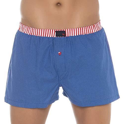 Unabux Boxershorts Bluepoint Blau mit weißen Punkten Größe XL