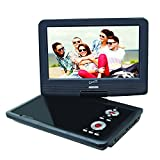 SuperSonic SC-259 Portable DVD Player 9' and Digital TV: USB and SD inputs with Built-in Lithium Ion Battery and Swivel Display