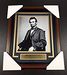 Image: Abraham Lincoln Portrait 16TH UNITED STATES PRESIDENT FRAMED 8x10 PHOTO, by Baseball Card Outlet and Sports Memorabilia