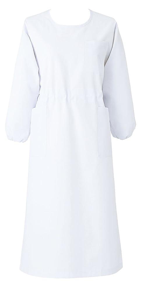 一口季節三医療ユニフォーム カゼン 予防衣 七分袖 ホワイト 6L