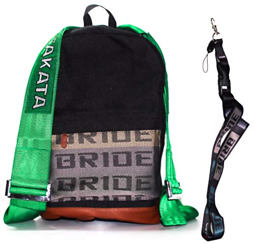 JDM Takata Rucksack + GRATIS BRID Lanyard Grün Racing Straps Harness Laptop Tasche und der coolste Look Ever