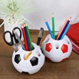 Yesoa Stiftehalter aus Kunststoff, für den Schreibtisch, mit Fußball-Stil, für Kinder, Studenten,...