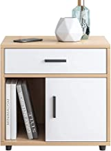 Bedside Cabinets,Bedside Table,Large Countertop And Drawer Design,Easy To Install,L48X W34X H51cm (Color : B)