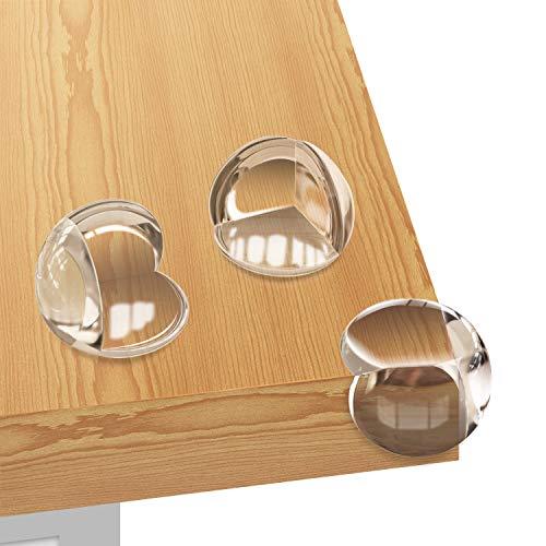 Eckenschutz Kantenschutz Baby für Kindersicherung, Transparent Tischkantenschutz Stoßschutz für Baby und Kinder vor Tisch und Möbel Ecken (28 Stück)