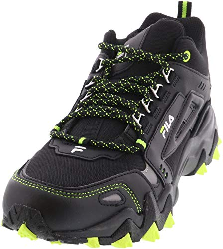 Fila Men's Oakmont TR MID Hiking Sneakers Black/Safety Yellow/Metal 10 US