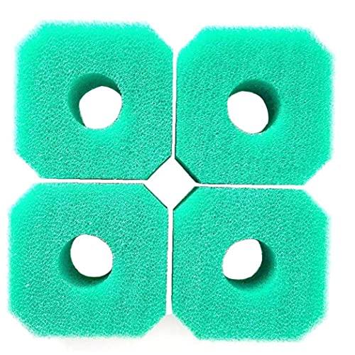 Piscina Filtros de esponja Filtro Cartucho de filtro Esponja para Aquarium Spa Green 4pcs Herramienta para nadar