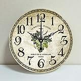 Early April ABC La Sala de Estar rústica es Sencilla de decoración mediterránea de Estilo clásico relojcolgantes Colgantes (30 cm) 712
