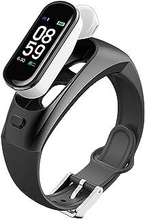 Pulsera Actividad con Auriculares, Monitor de Sueño Presión sanguínea Pulsómetro Pulsera Monitor Bluetooth PulseraInteligente Impermeable Pulsera Deportiva Llamar SMS SNS Recordar