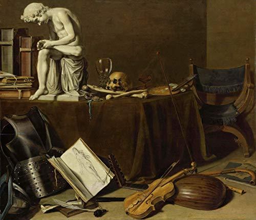 Pieter Claesz Giclée Leinwand Prints Gemälde Poster Reproduktion(Vanitas-Stillleben mit dem Spinario)