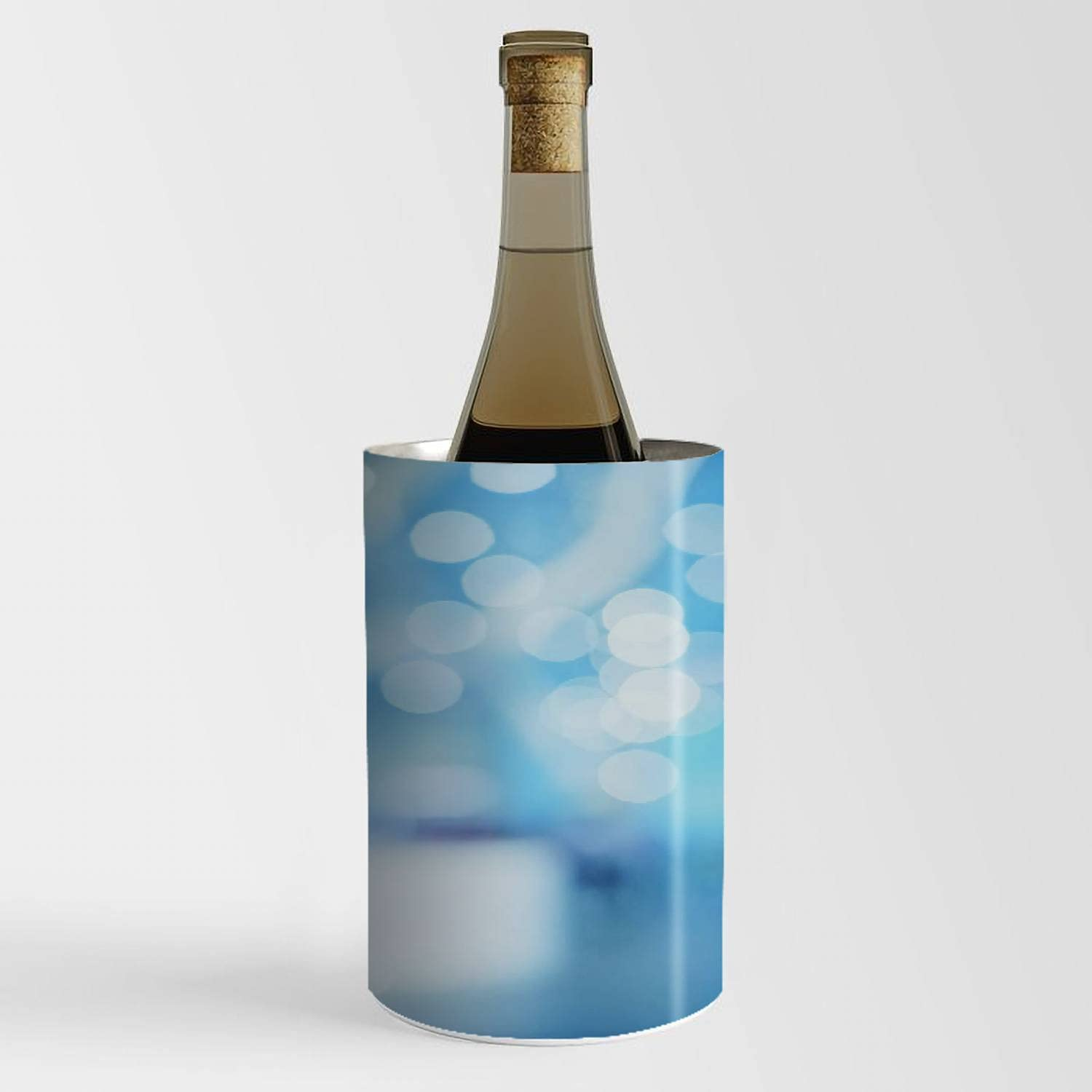 Wine Chiller 2021 spring and summer new Bucket Topics on TV - Abstract C background bokeh backlight blue