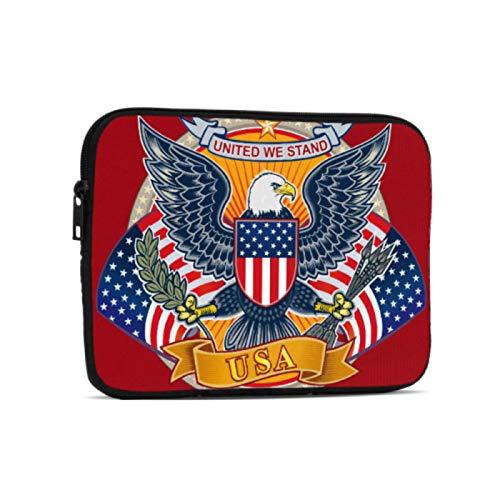 Fundas para Tableta American Independent Day Symbol Eagle iPad Mini Accesorios compatibles con iPad 7,9/9,7 Pulgadas Bolsa Protectora de Neopreno a Prueba de Golpes con Cremallera y asa c