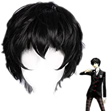 Akira Kurusu Ren Amamiya Joker Cosplay wig Xcoser Persona 5 Hair for Men