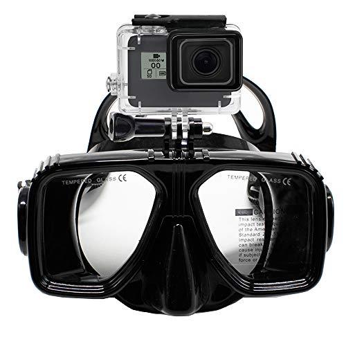 cali jade Diving Mask Schwimmen Schnorchel Scuba Adventure Brille Unterwasserbrille mit Silikonrock und Gurt für GoPro Hero 7/6/5 Black, Hero 5, Hero 4, Hero Session
